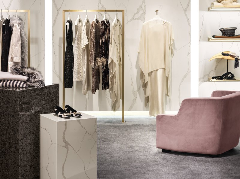Corian quartz for retail design corian quartz